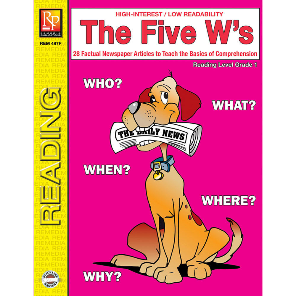 REM487F - The 5 Ws 1St Gr Reading Level in Comprehension