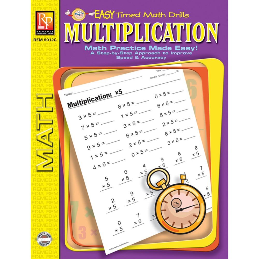 REM5012C - Multiplication Easy Timed Math Drills in Multiplication & Division