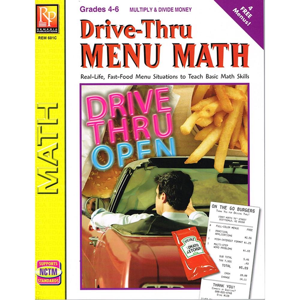 REM601C - Drive Thru Menu Math Multiply & Divide Money in Money