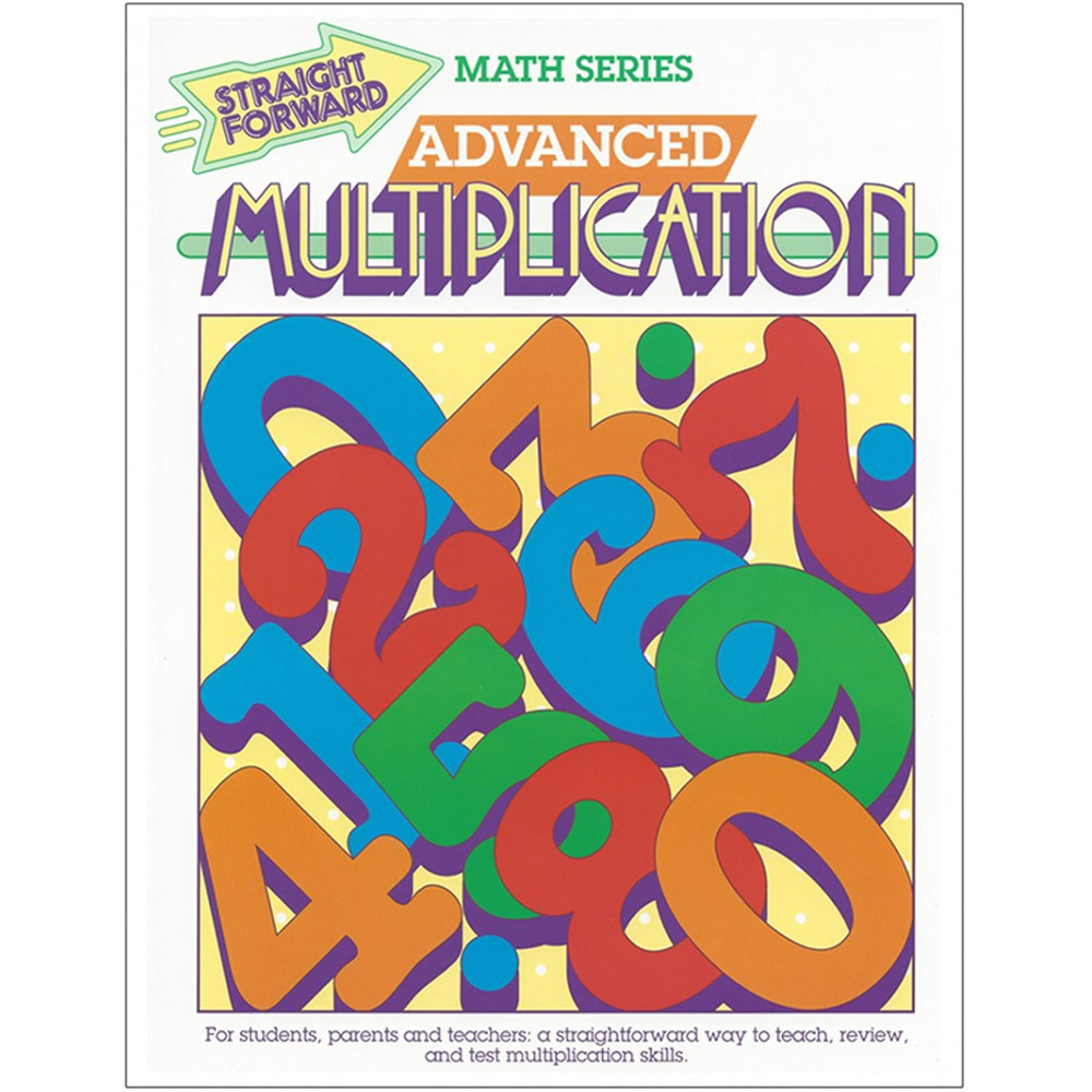 REMGP017 - Straight Forward Math Adv Multiplic in Activity Books
