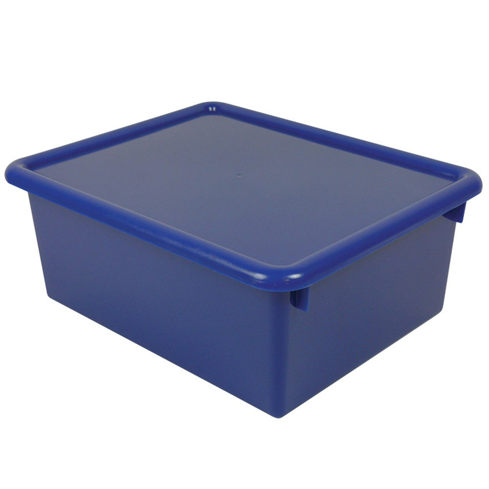 ROM16004 - Stowaway Blue Letter Box With Lid 13 X 10-1/2 X 5 in Storage Containers