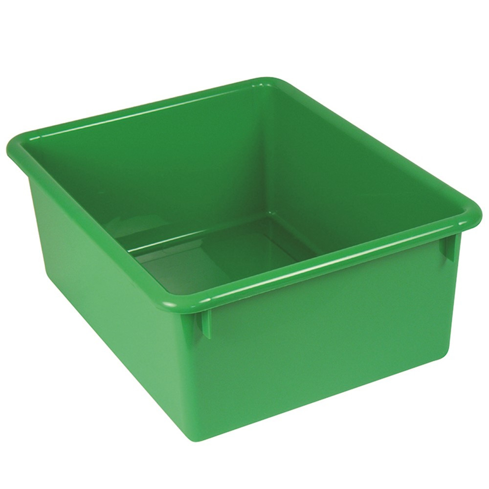 ROM16105 - 5In Stowaway Letter Box Green No Lid 13 X 10-1/2 X 5 in Storage Containers