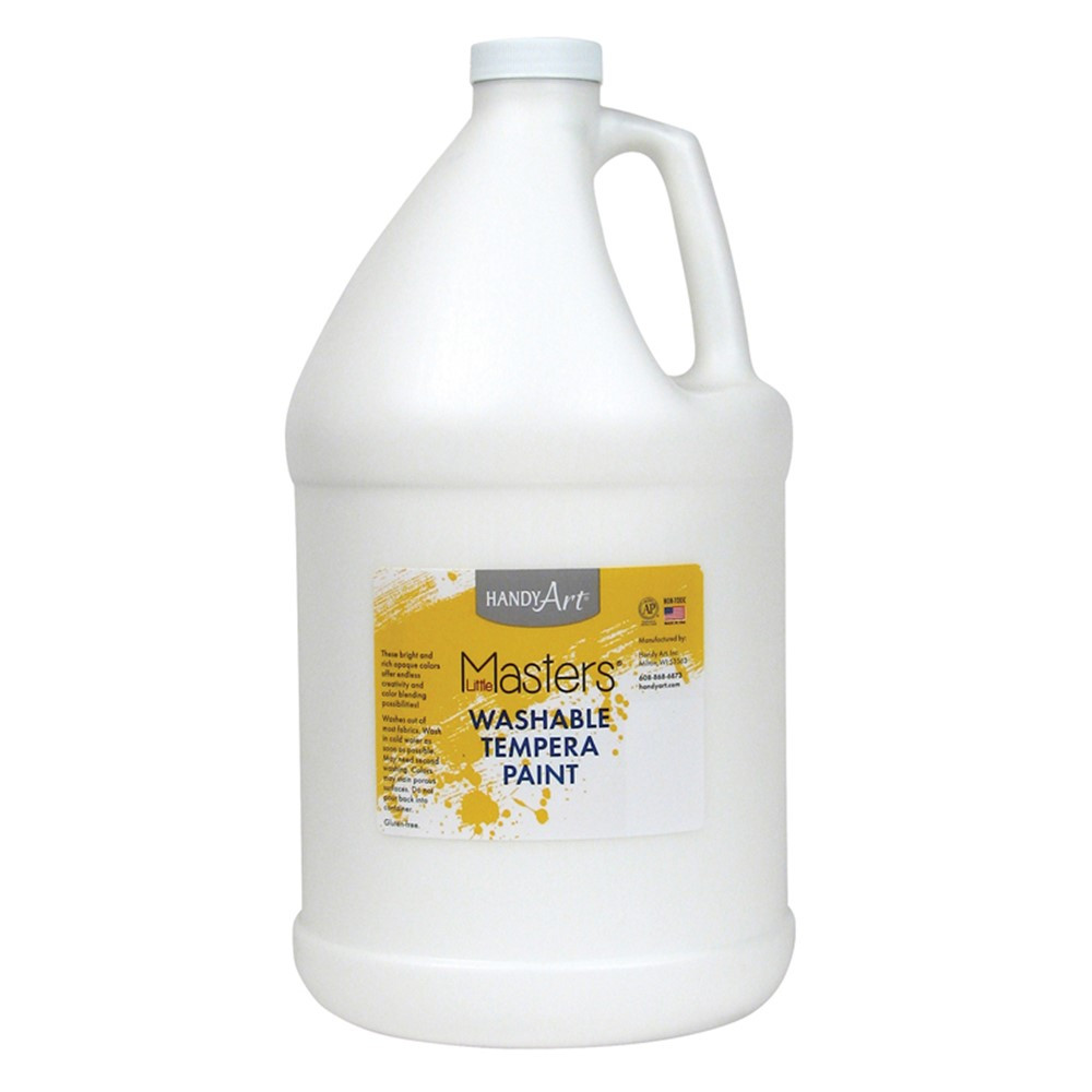 RPC214705 - Little Masters White 128Oz Washable Paint in Paint