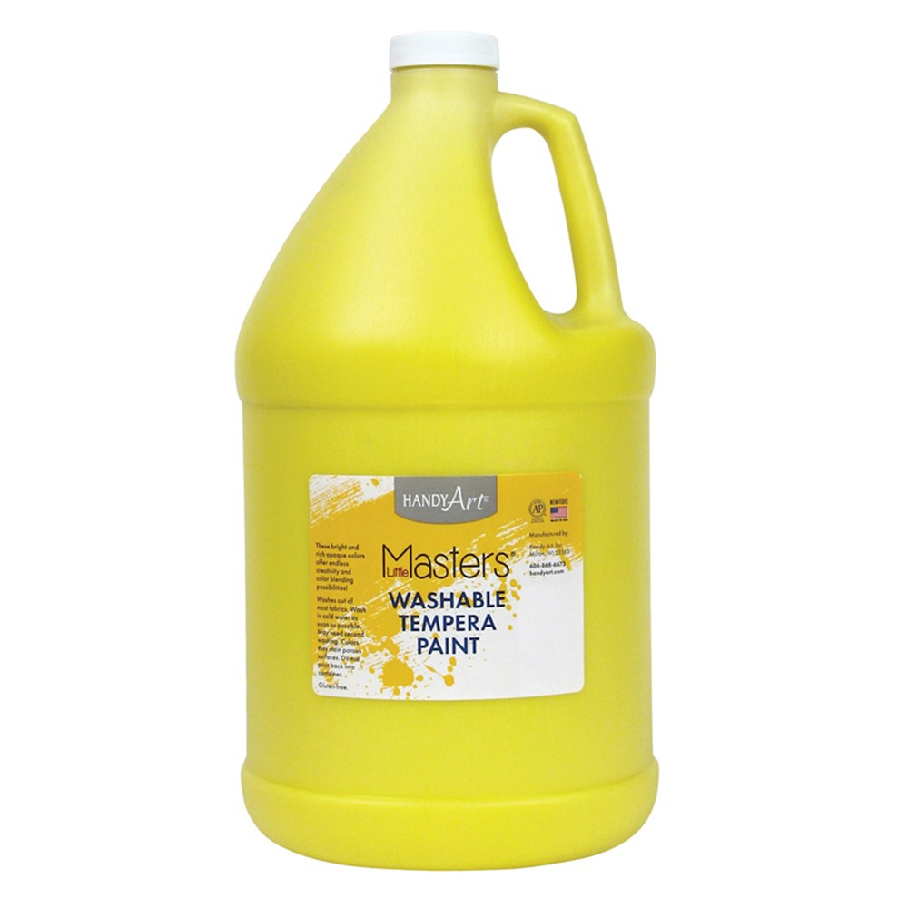 RPC214710 - Little Masters Yellow 128Oz Washable Paint in Paint