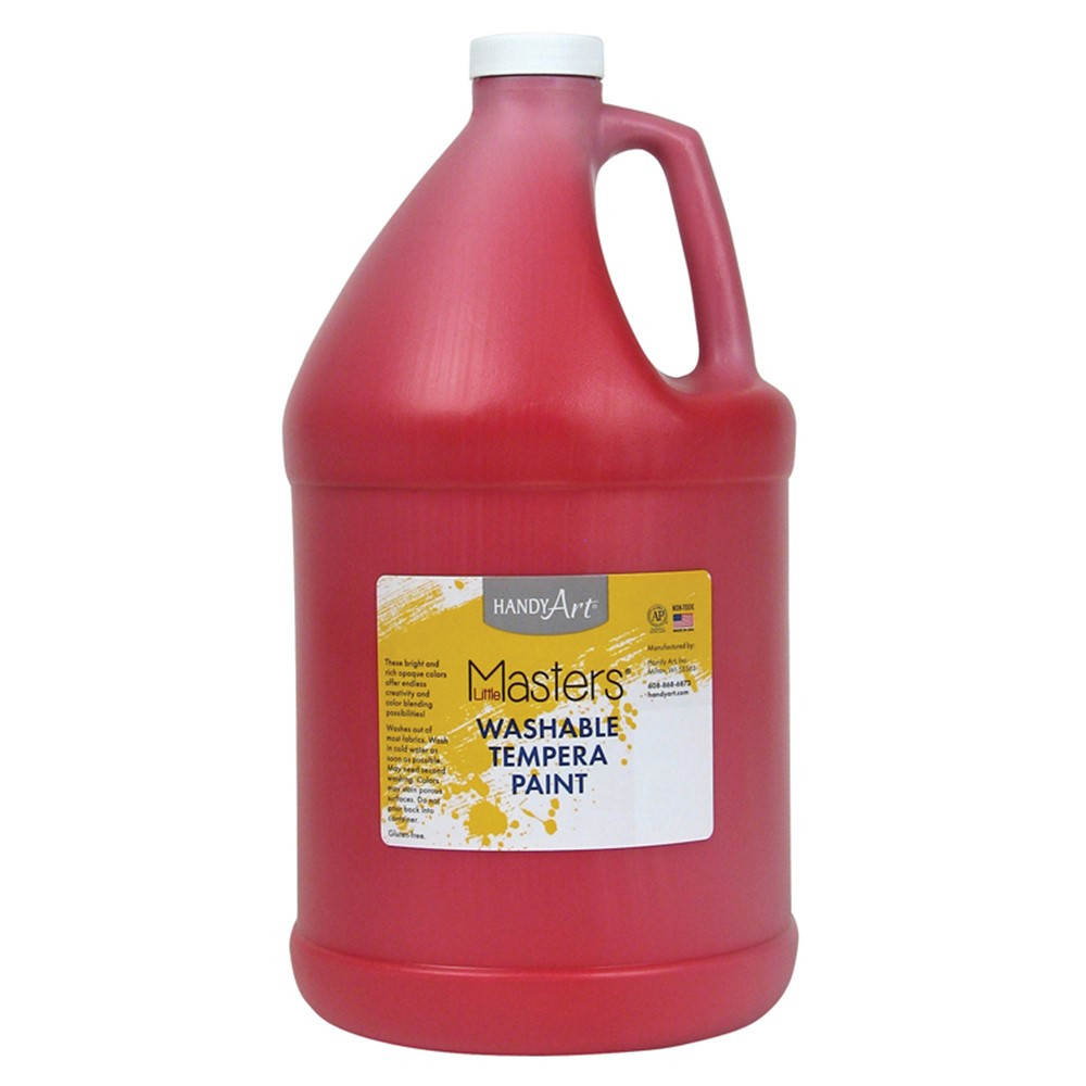 RPC214720 - Little Masters Red 128Oz Washable Paint in Paint