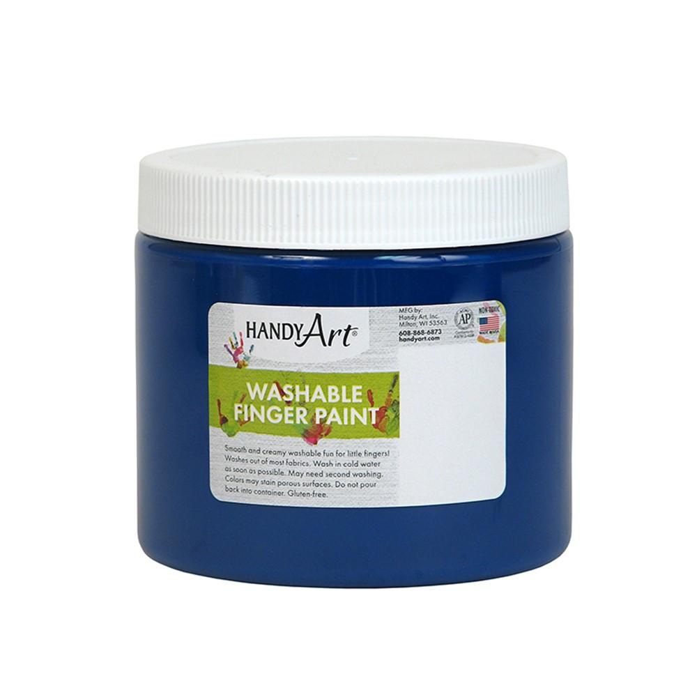 RPC241030 - Handy Art Blue 16Oz Washable Finger Paint in Paint