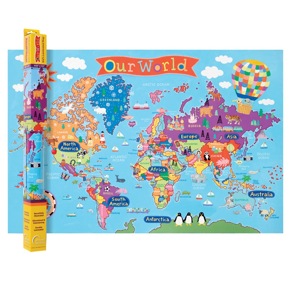 World Map For Kids RWPKM01 Round World Products Social
