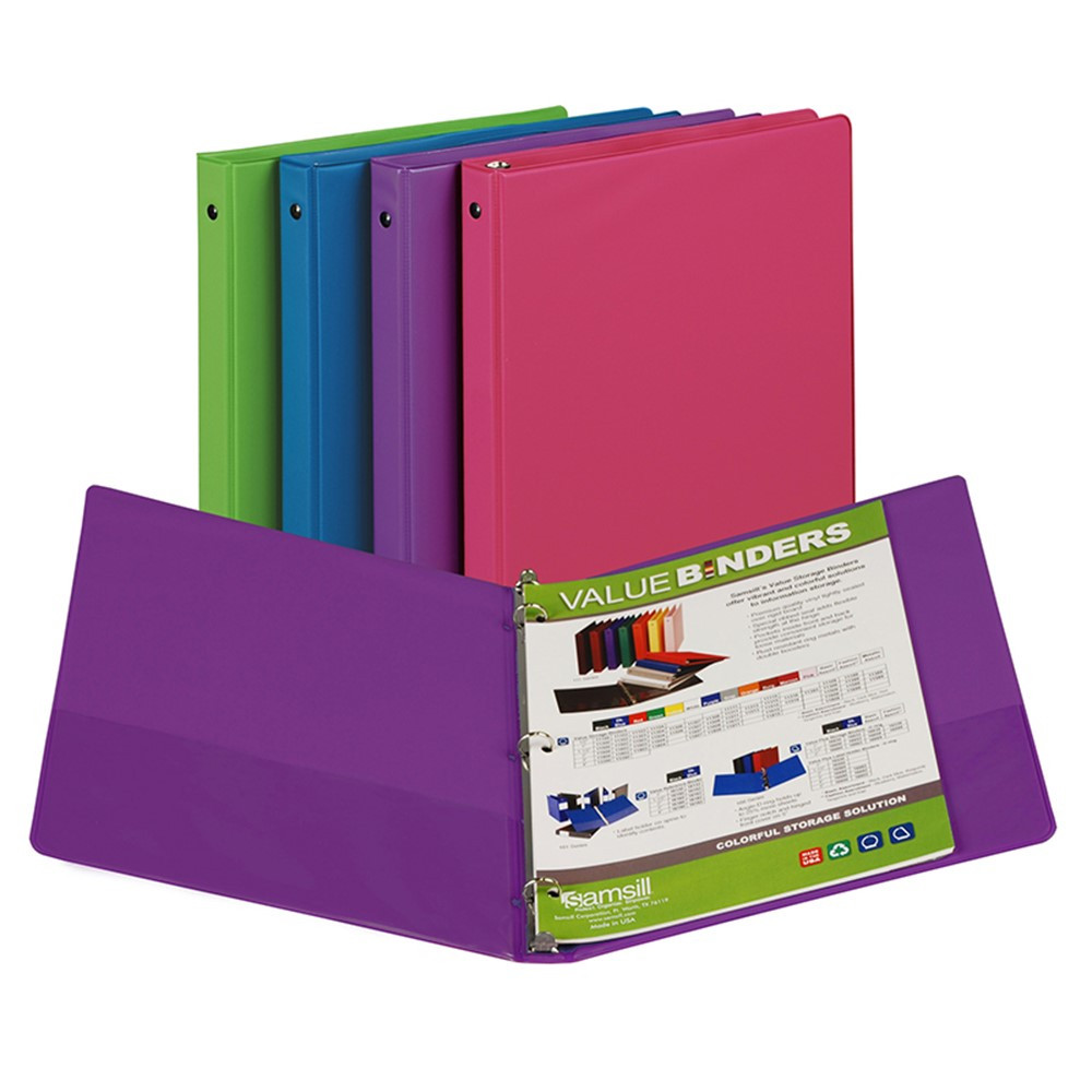 Fashion Color Binder 1/2In Capacity - SAM11199