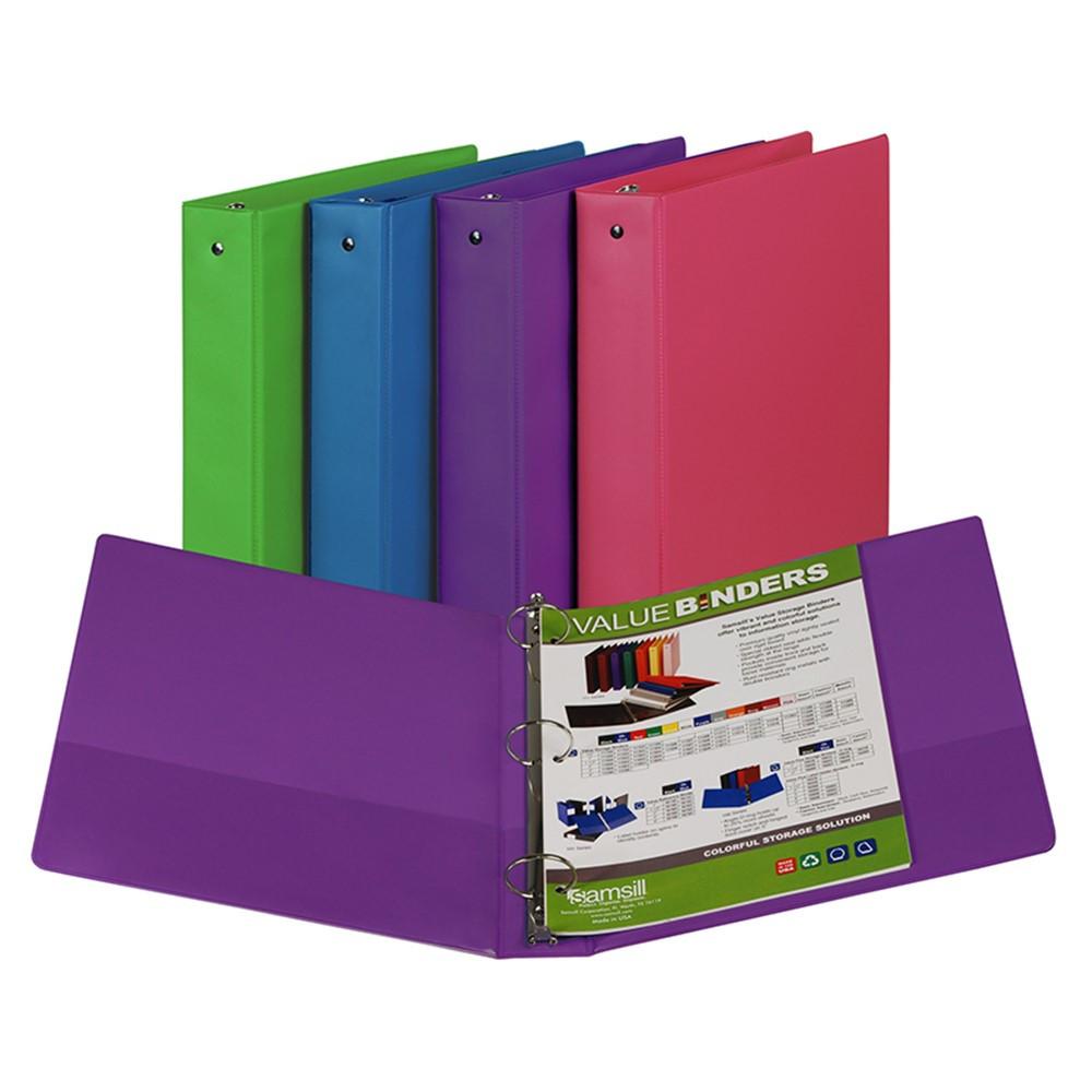 SAM11599 - Fashion Color Binder 1 1/2In Capacity in Folders