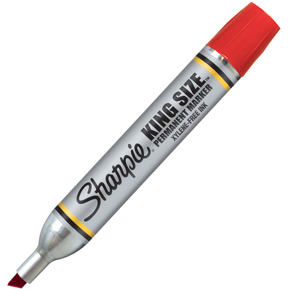 SAN15002 - Sharpie King Size Permanent Marker Red in Markers