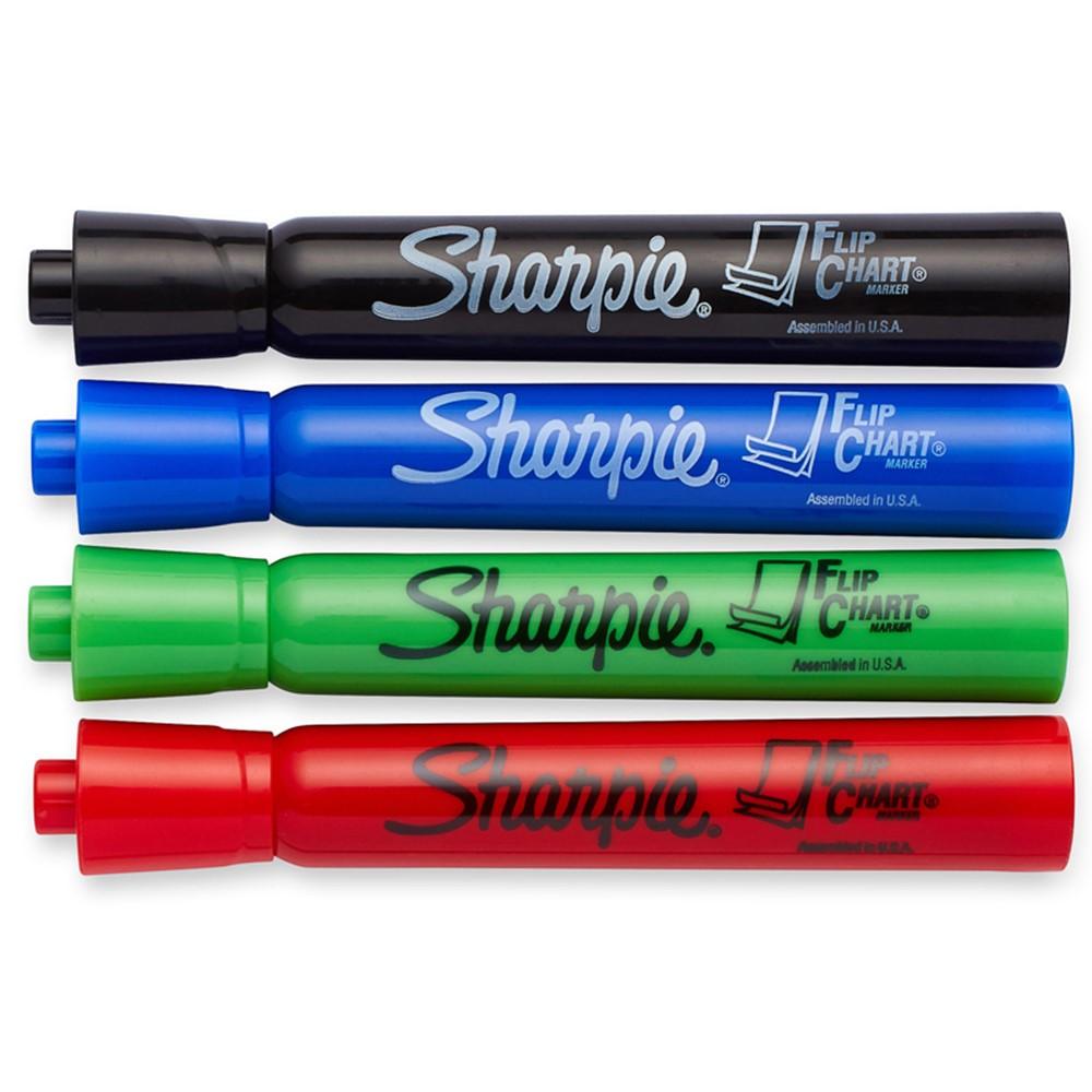 Sharpie flip chart markers 4 pk bullet tip assorted colors