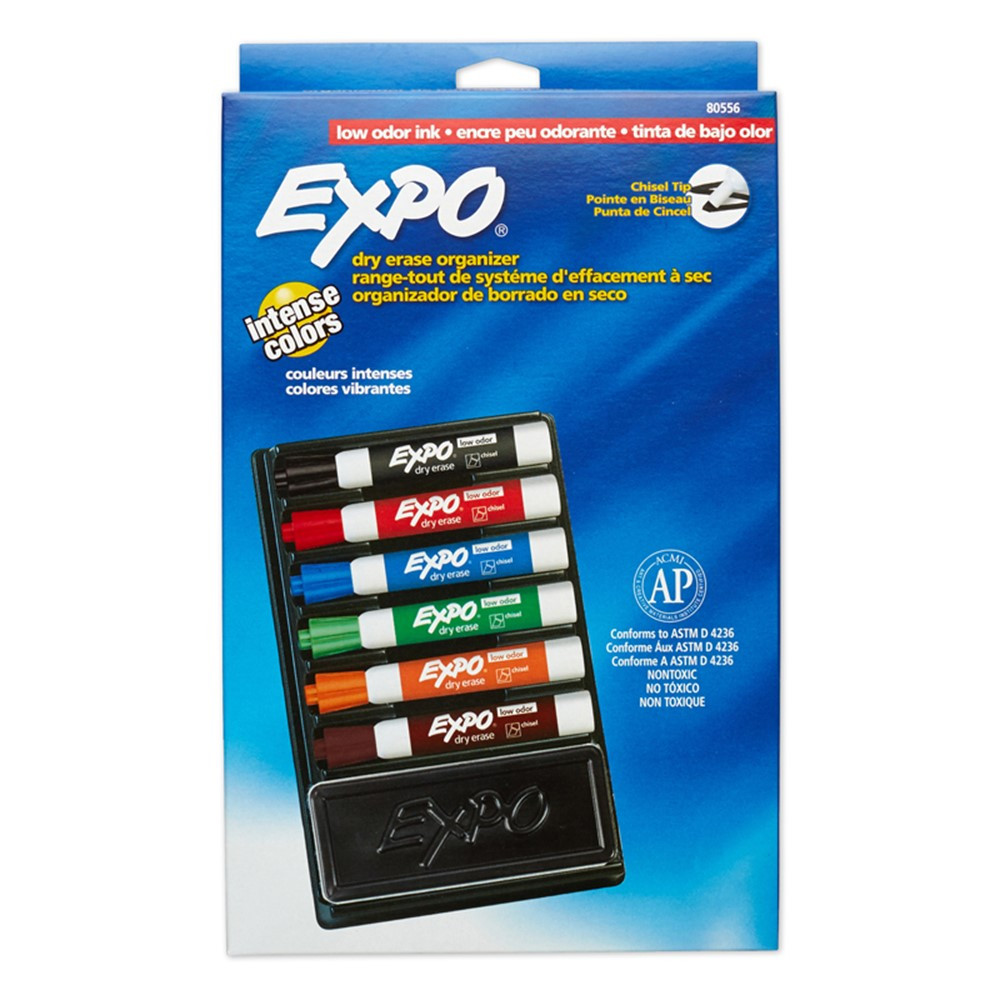 SAN80556 - Expo Low Odor 6 Marker Organizers in Whiteboard Accessories