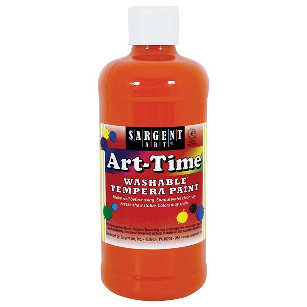SAR173414 - Orange Art-Time Washable Paint 16Oz in Paint