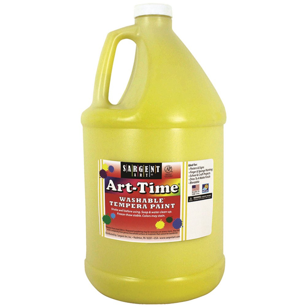 SAR173602 - Yellow Art-Time Washable Paint Glln in Paint
