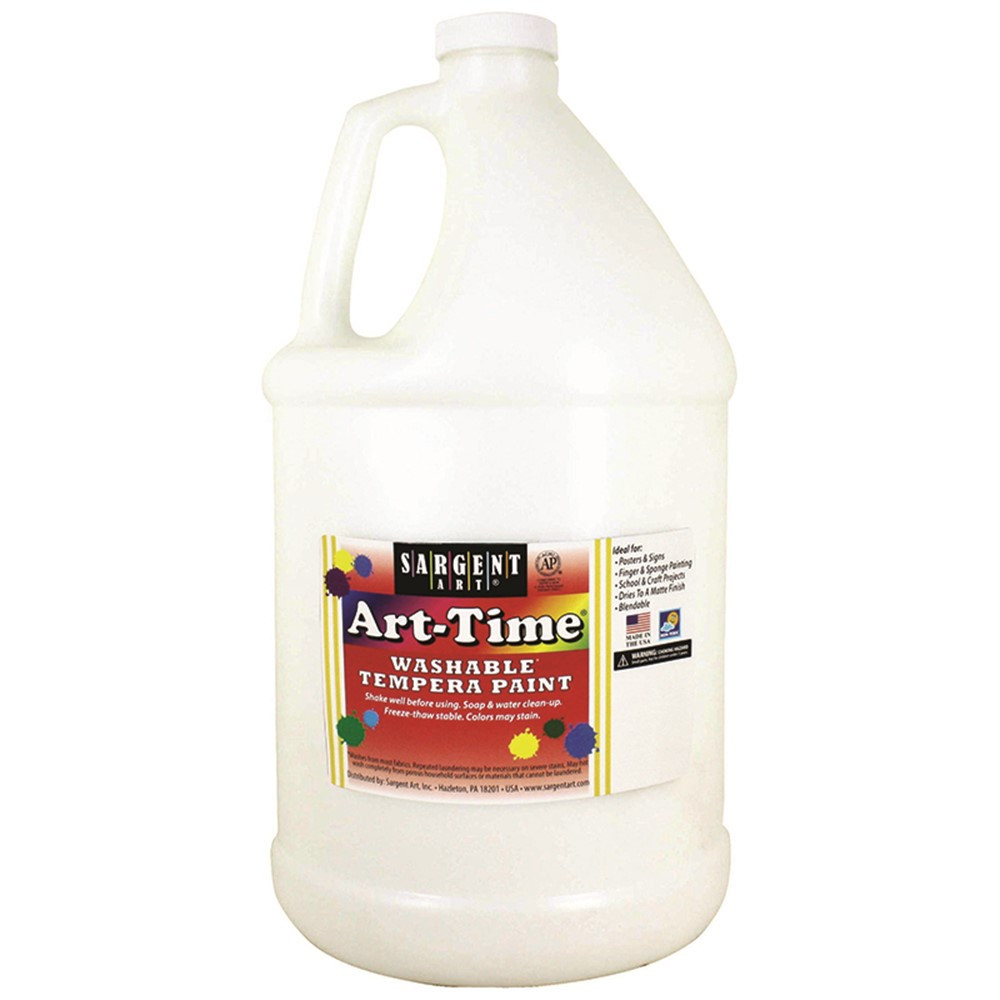 White Art Time Washable Paint Glln