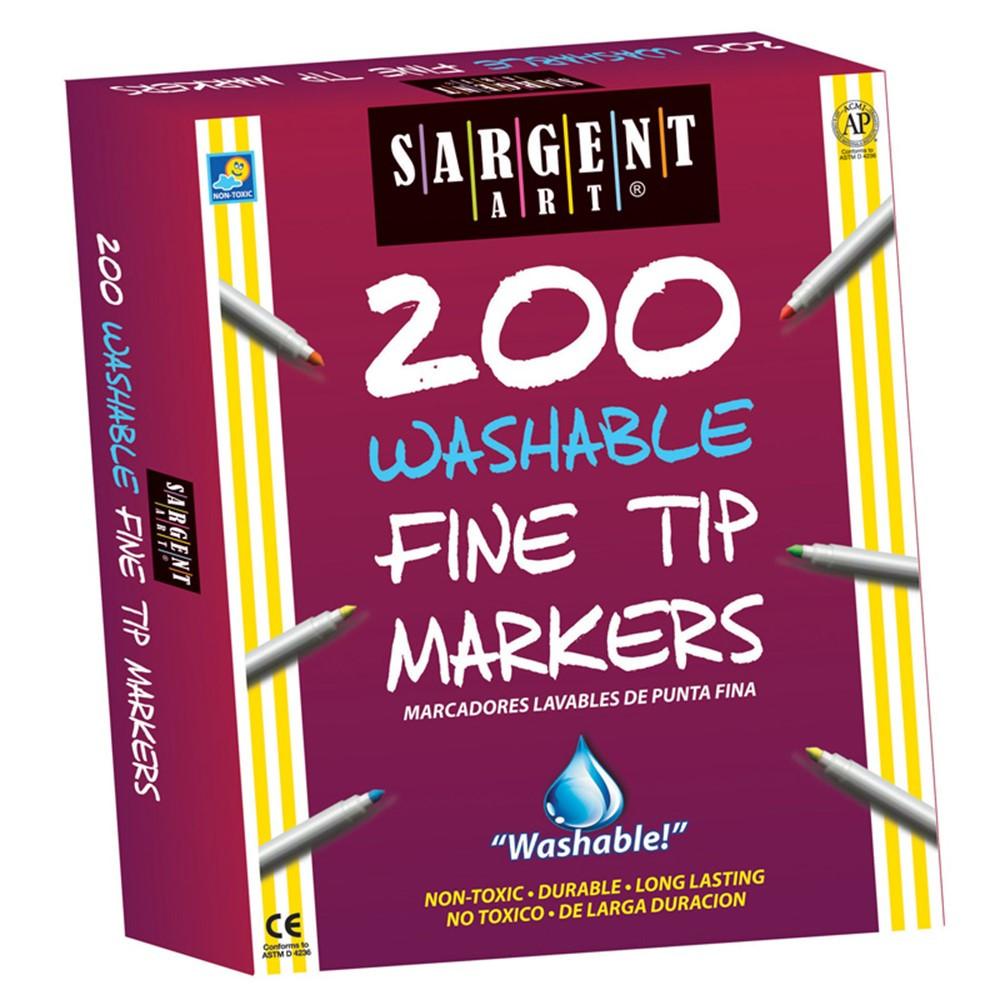 SAR221526 - Sargent Art Best Buy Washable Marker Assortment Fine Tip in Markers