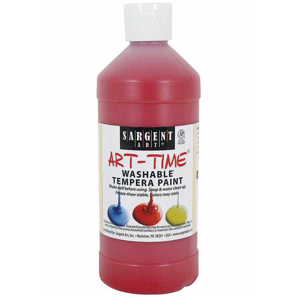 SAR223420 - Red Washable Tempera 16 Oz in Paint