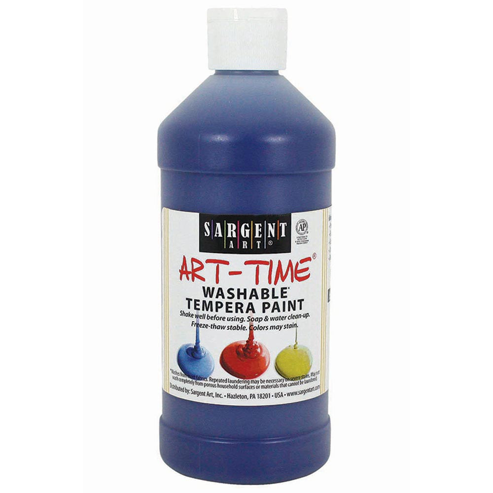 SAR223450 - Washable Tempera Blue 16 Oz in Paint