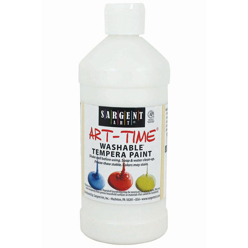 SAR223496 - White Washable Tempera 16 Oz in Paint