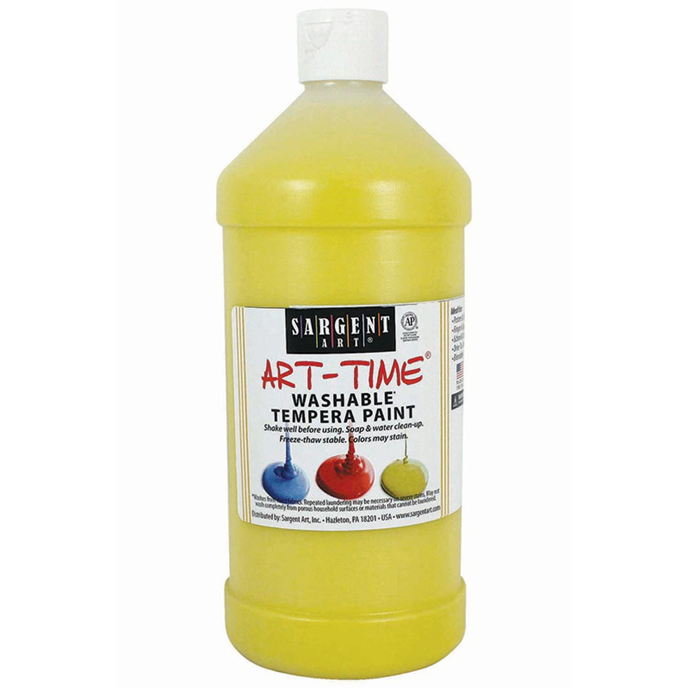 SAR223502 - Yellow Washable Tempera Paint 32Oz in Paint