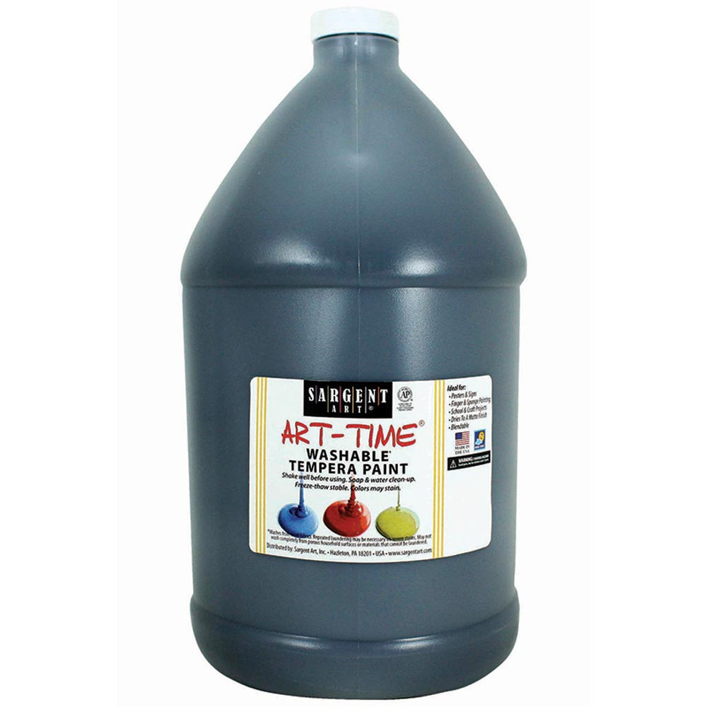SAR223685 - Washable Tempera Black Gallon in Paint