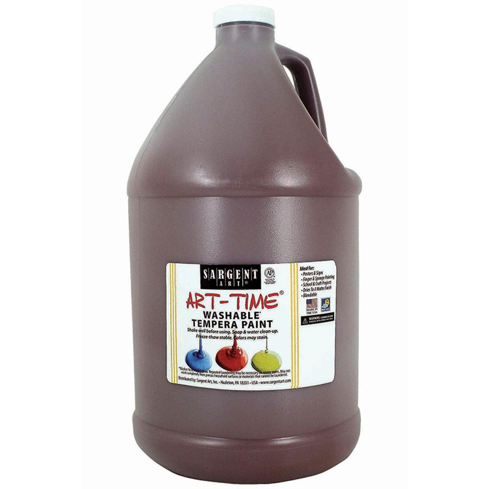 SAR223688 - Brown Washable Tempera Gal in Paint