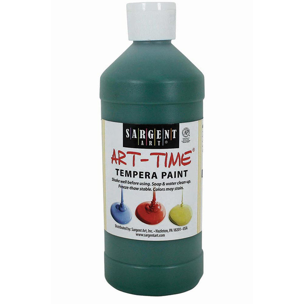 SAR226466 - Green Tempera Paint 16Oz in Paint