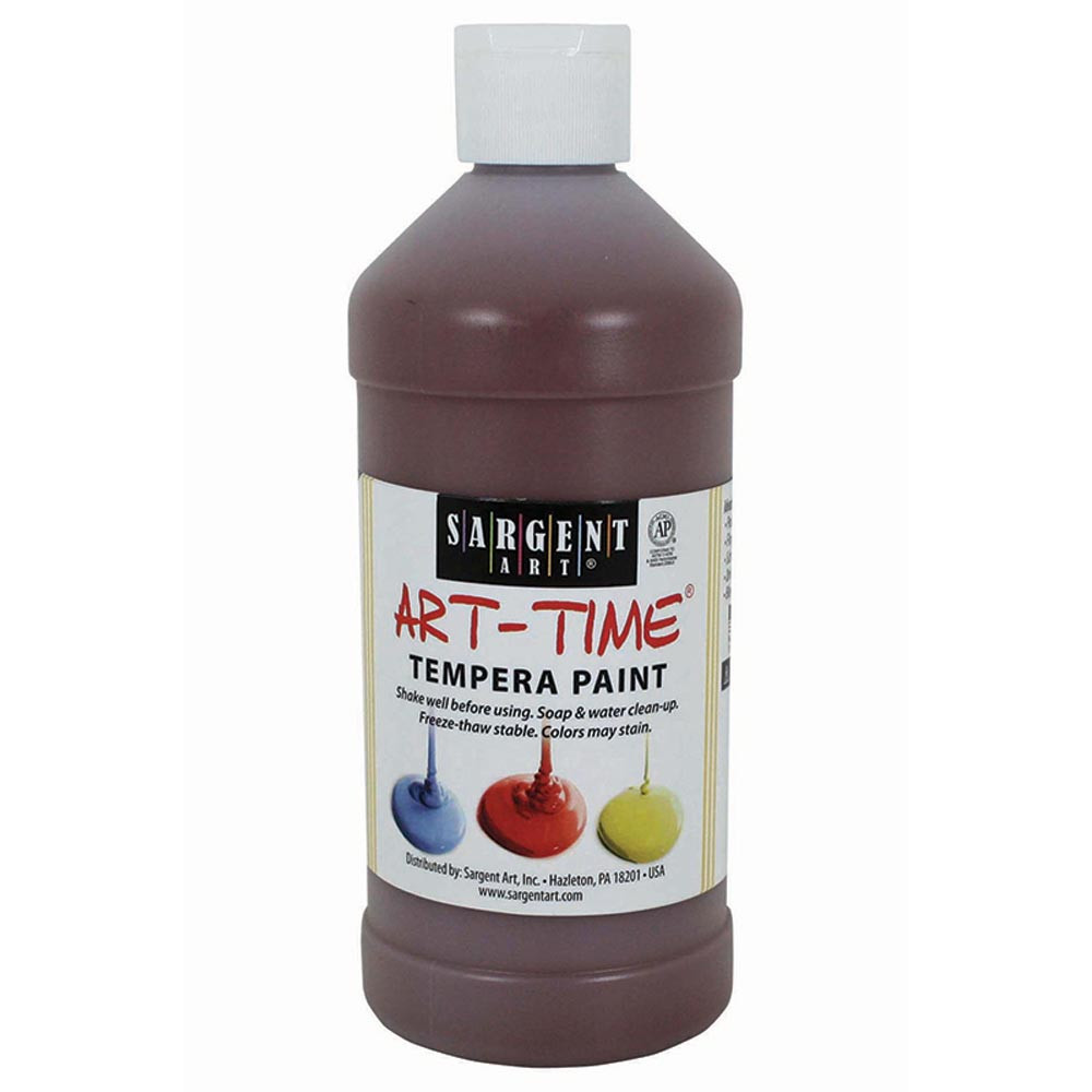 SAR226488 - Brown Tempera Paint 16Oz in Paint