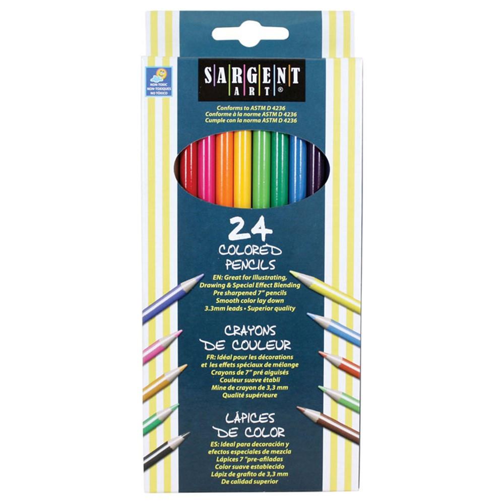 SAR227224 - Sargent Art Colored Pencils 24/Set in Colored Pencils