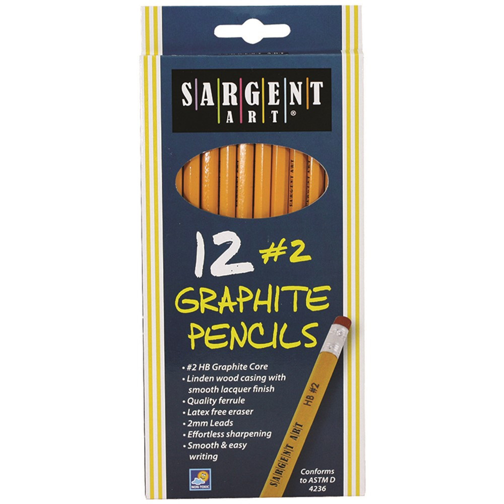 SAR227291 - 12Ct Hb Graphite Pencils Unsharpened in Pencils & Accessories