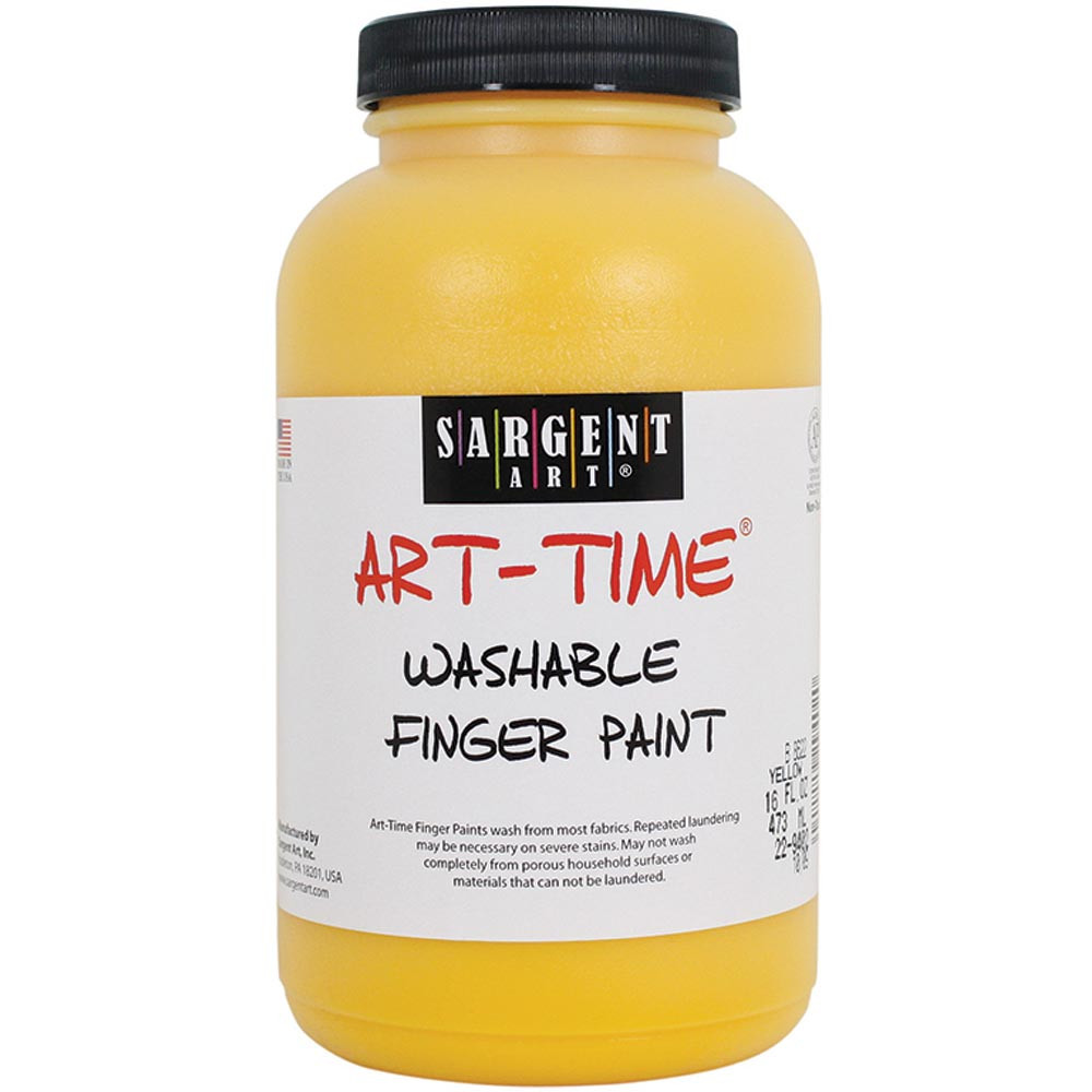 SAR229402 - 16Oz Washable Finger Paint Yellow in Paint