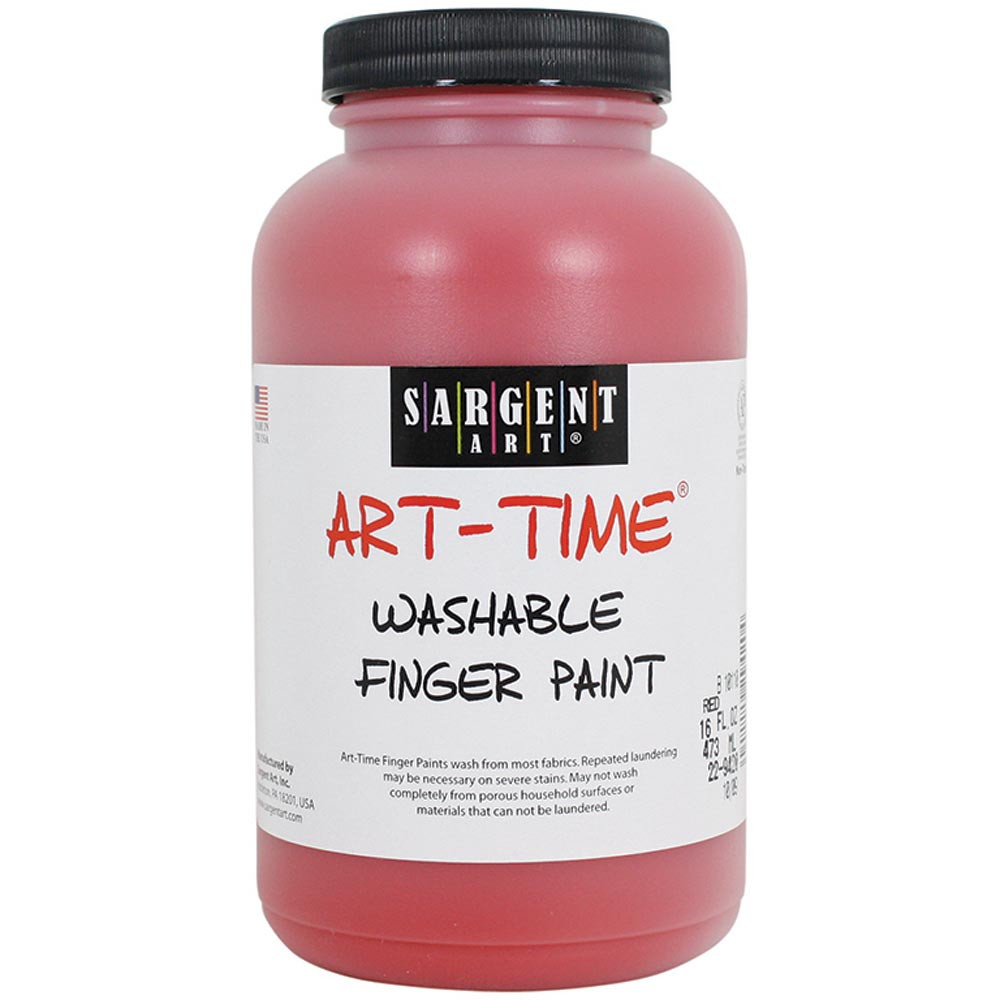 SAR229420 - 16Oz Washable Finger Paint Red in Paint