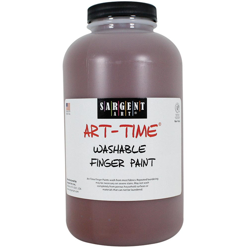 SAR229588 - 32Oz Washable Finger Paint Brown in Paint