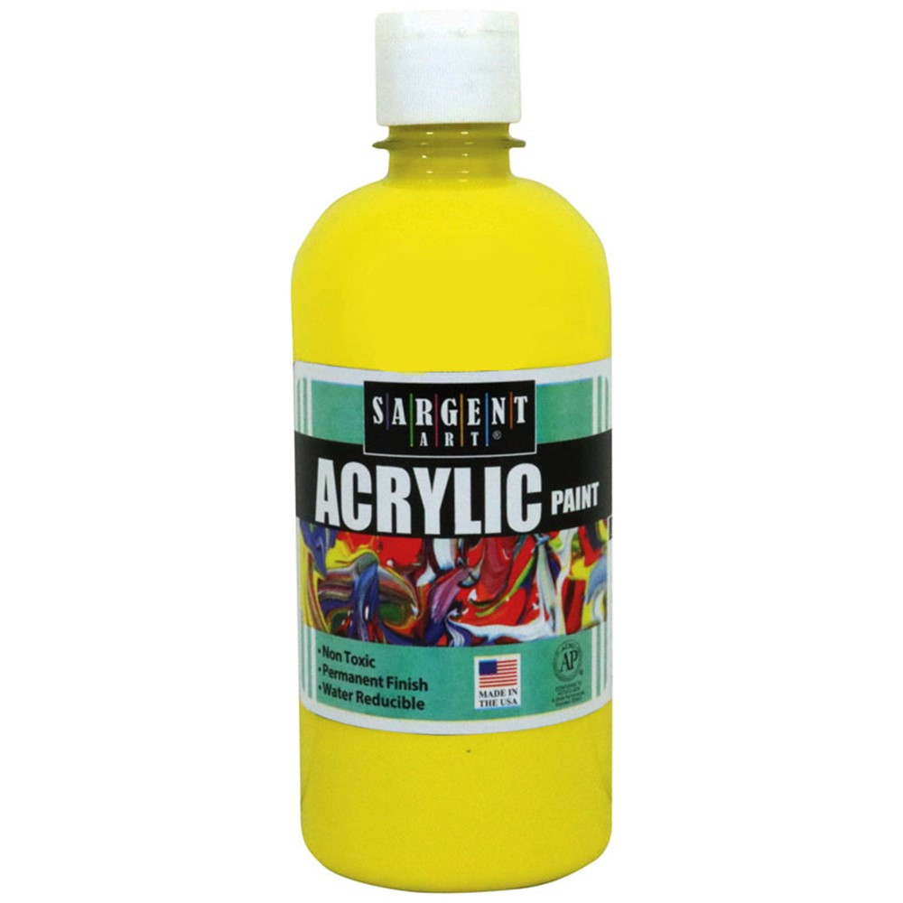16oz acrylic paint yellow sar242402 sargent art inc for How to make yellow paint