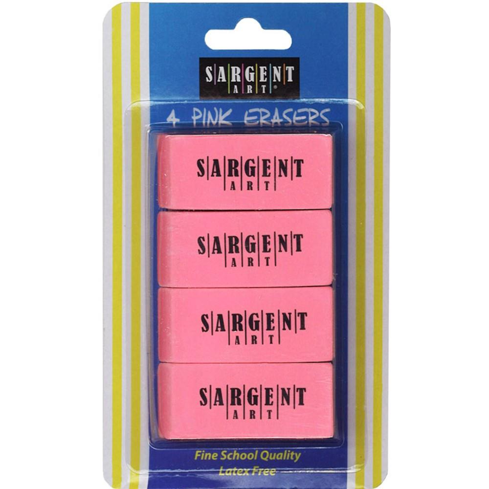 SAR361013 - 4Ct Large Pink Eraser Pack in Erasers