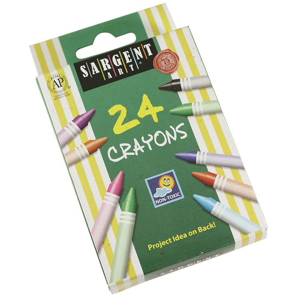 SAR550924 - Sargent Art Crayons 24 Count Tuck Box in Crayons