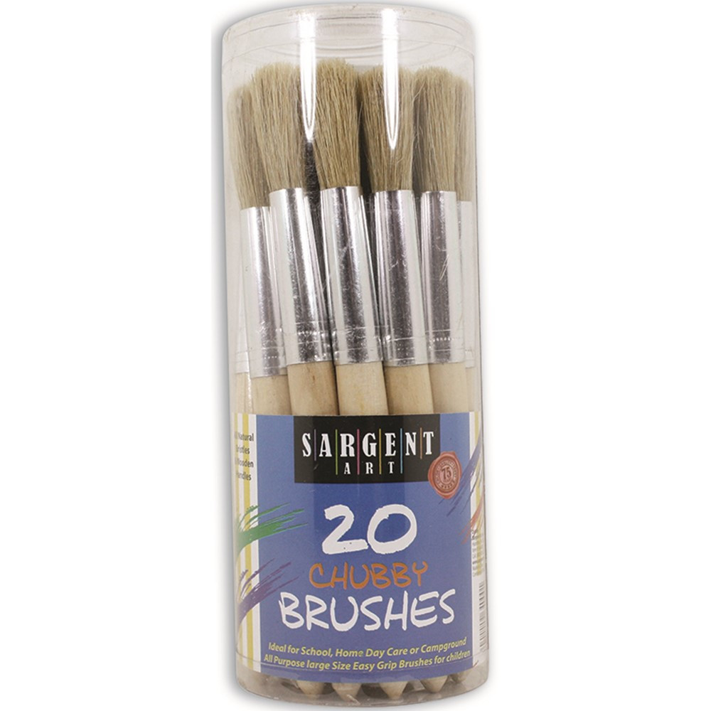SAR564000 - 20Ct Jumbo Brushes Wooden Handles In Canister in Paint Brushes