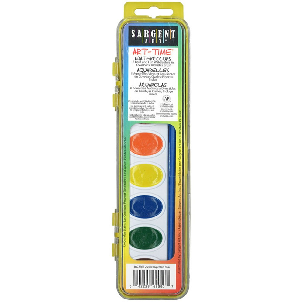 SAR668000 - 8 Semi Moist Watercolor Set in Paint
