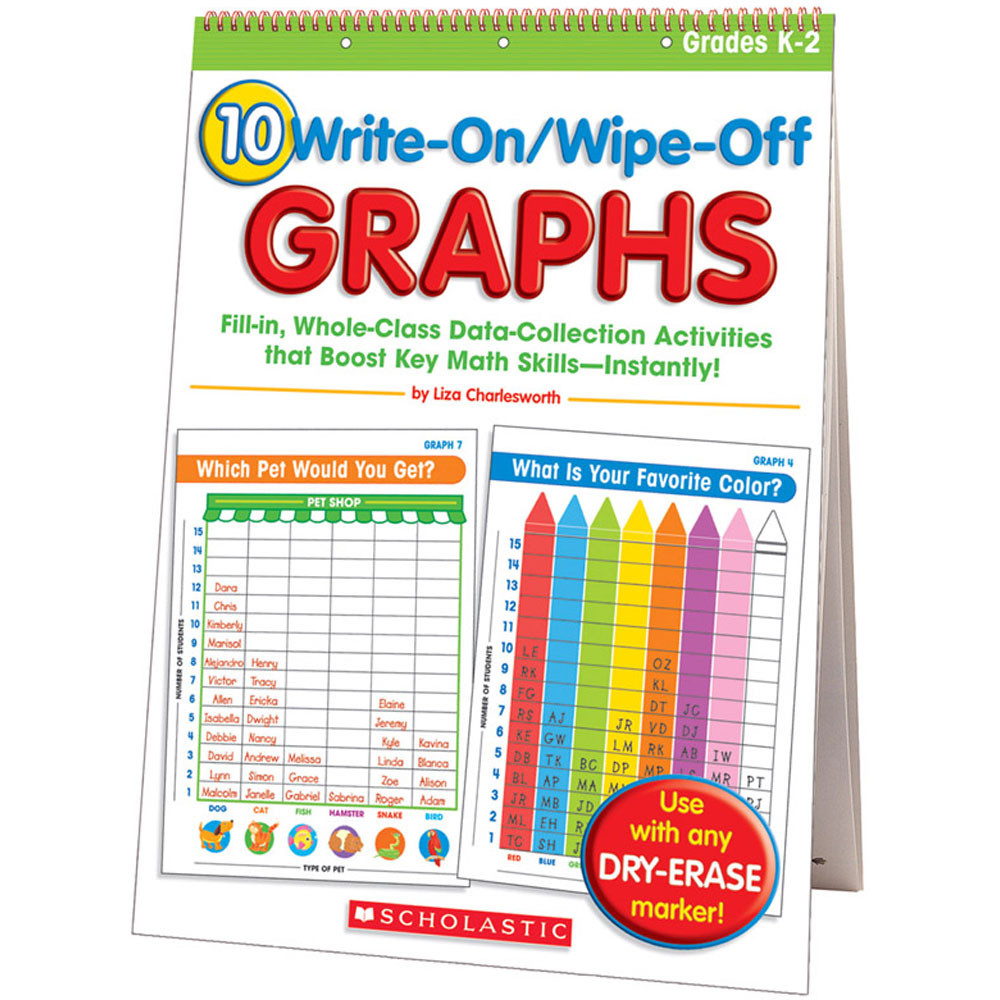 SC-0439720877 - 10 Write On Wipe Off Graphs Flip Chart in Miscellaneous