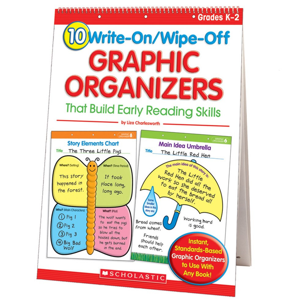 SC-0439827736 - 10 Write-On/Wipe-Off Graphic Organizers That Build Readng Skill in Graphic Organizers