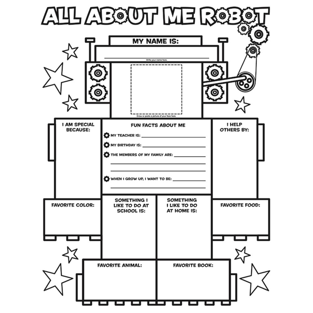 SC-054501462X - All About Me Robot Graphic Organizer Posters in Graphic Organizers