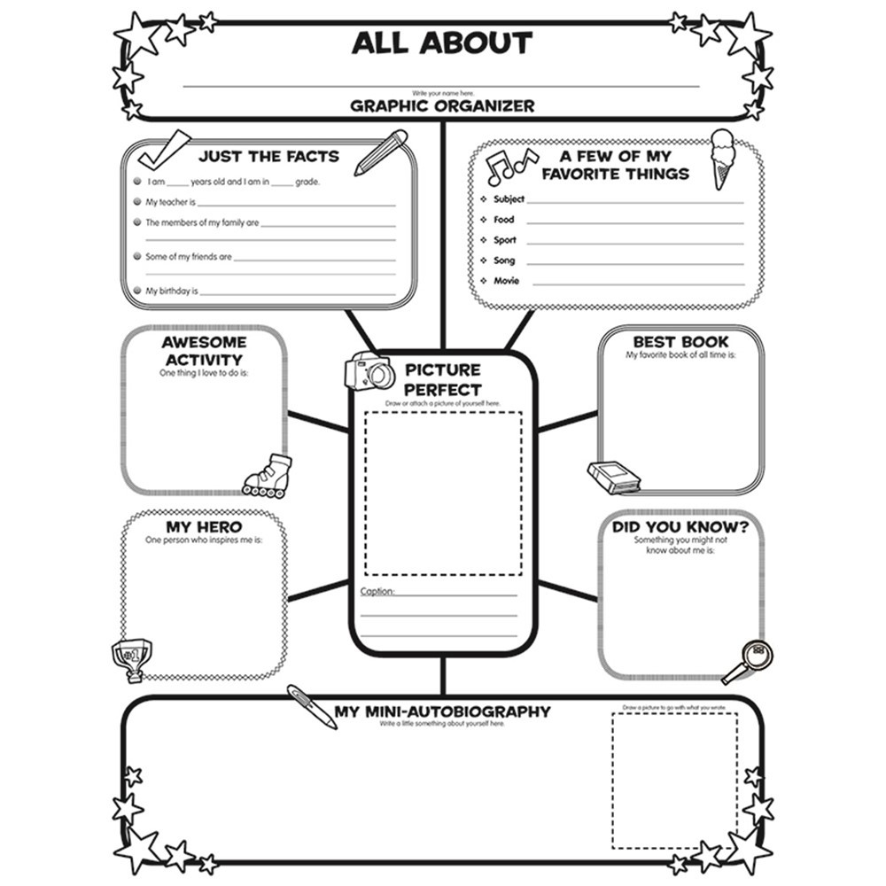 All About Me Web Graphic Organizer Posters Sc 0545015375