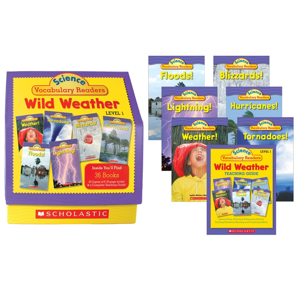 SC-0545015987 - Science Vocabulary Readers Wild Weather in Weather
