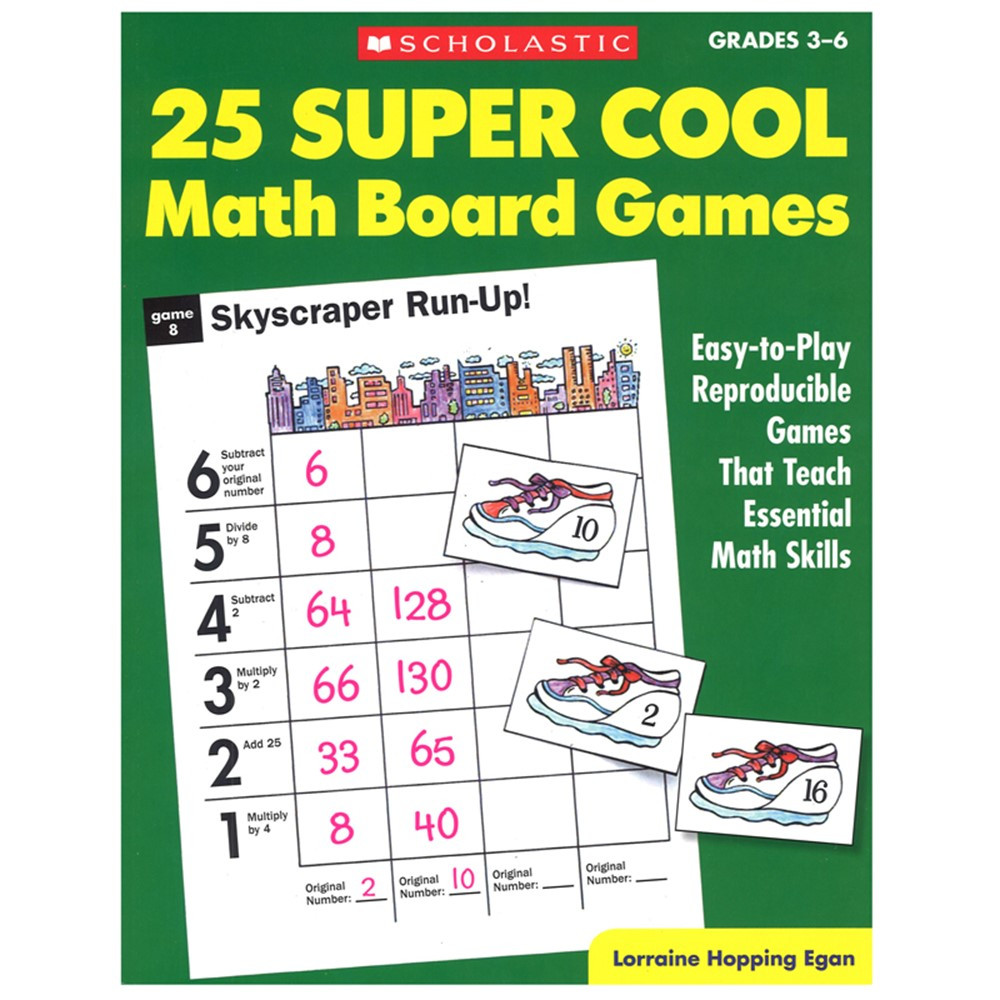 SC-0590378724 - 25 Super Cool Math Board Games in Math
