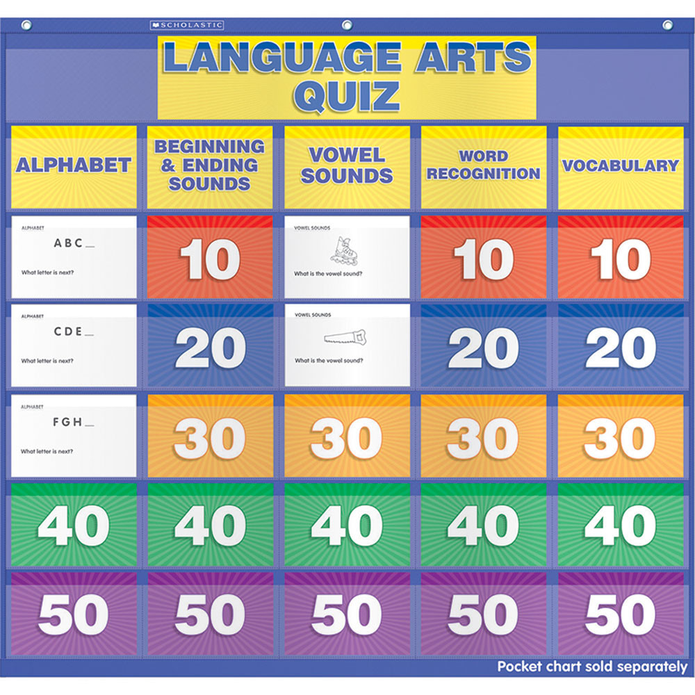 SC-541753 - Language Arts Class Quiz K-1 Pocket Chart Add Ons in Pocket Charts