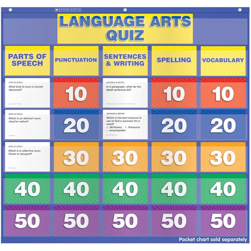 SC-541754 - Language Arts Class Quiz 5-6 Pocket Chart Add Ons in Pocket Charts