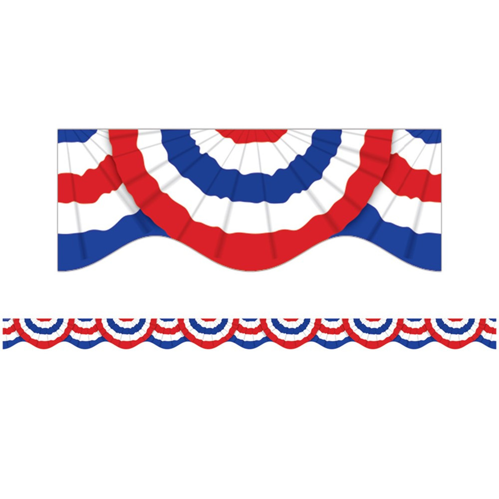 SC-541759 - Patriotic Bunting Scalloped Trimmer in Border/trimmer