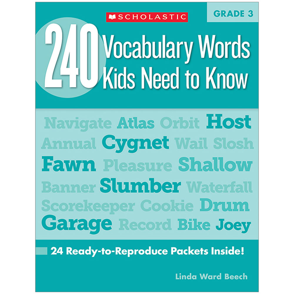 SC-546863 - 240 Vocabulary Words Kids Need To Know Gr 3 in Vocabulary Skills