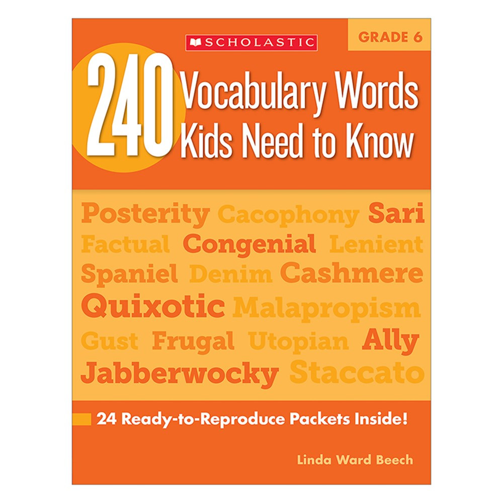 SC-546866 - 240 Vocabulary Words Kids Need To Know Gr 6 in Vocabulary Skills