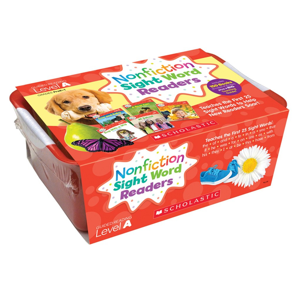 SC-584285 - Nonfiction Sight Word Readers Lvl A Classroom Tub in Sight Words
